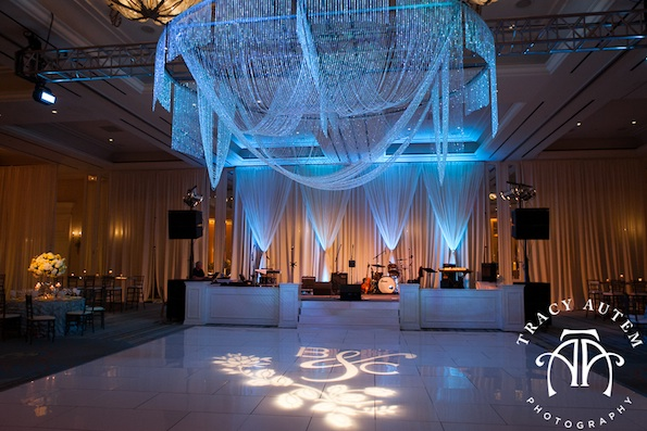Four Seasons wedding lighting Tracy Altem