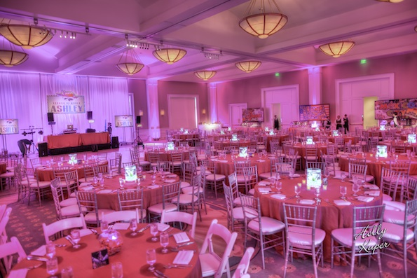 Belo Uplighting Bar Mitzvah Mansionparty Lighting